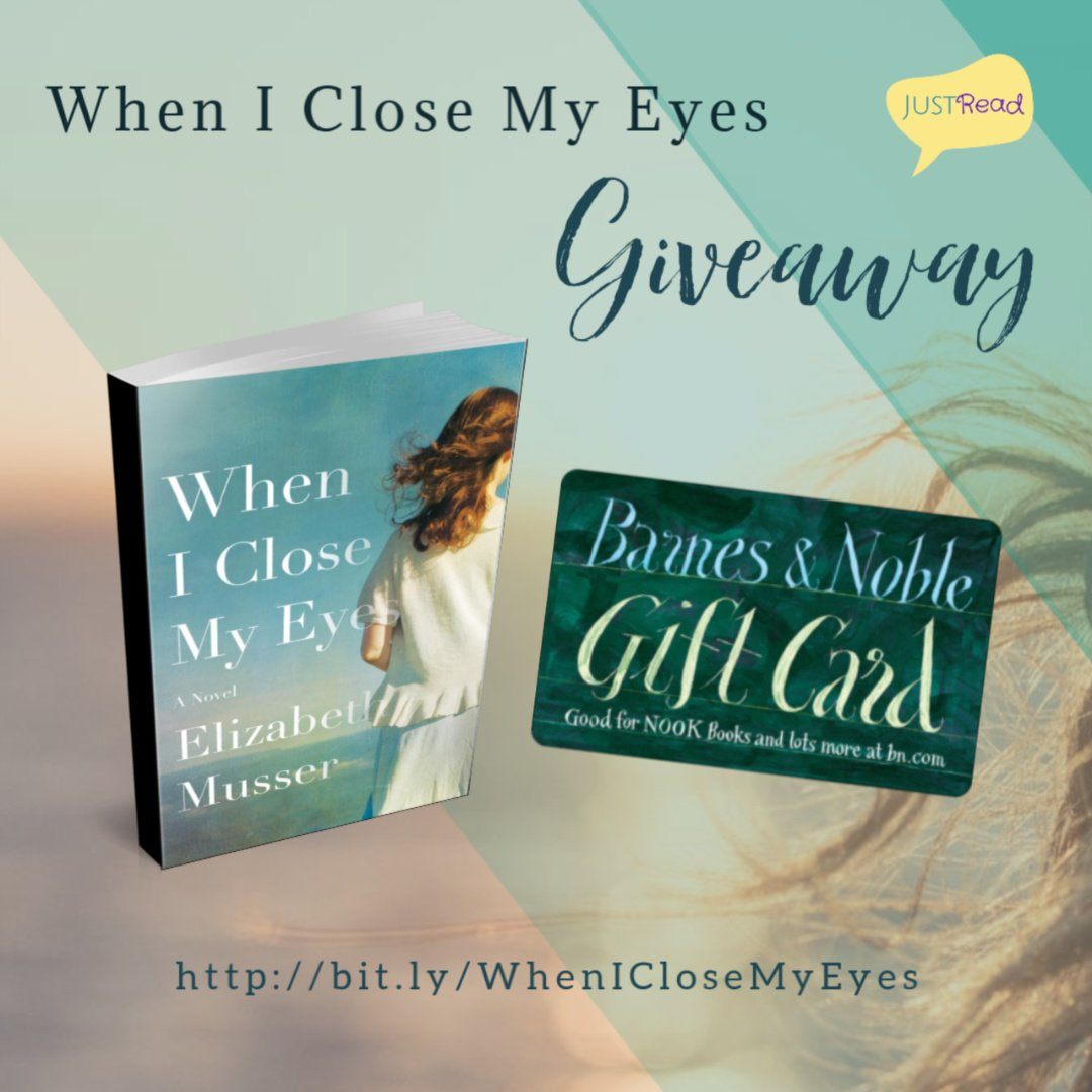 When I Close My Eyes JustRead Giveaway