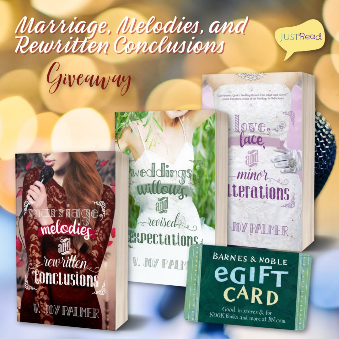 Marriage, Melodies, and Rewritten Conclusions JustRead Takeover Giveaway