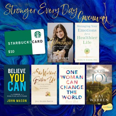 Stronger Every Day JustRead giveaway
