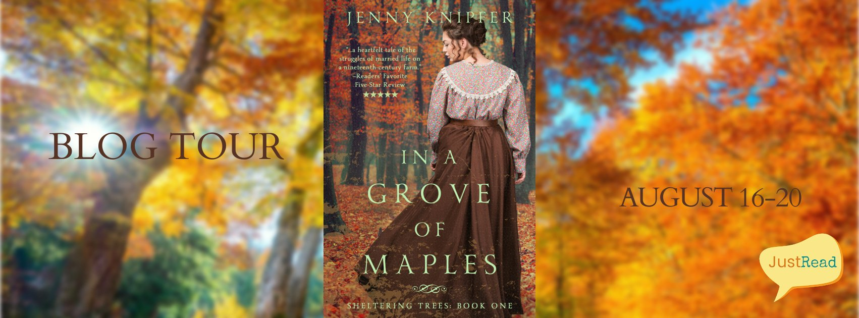 In a Grove of Maples JustRead Blog Tour